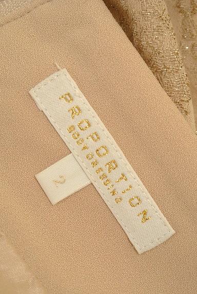 PROPORTION BODY DRESSING(プロポーションボディ ドレッシング)の古着「裾スカラップラメ刺繍ミニスカ(ミニスカート)」大画像6へ