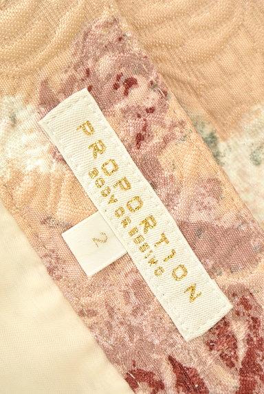 PROPORTION BODY DRESSING(プロポーションボディ ドレッシング)の古着「エンボス花柄台形ミニスカート(ミニスカート)」大画像6へ