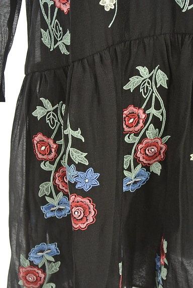 deicy(デイシー)の古着「花柄刺繍シアー7分袖ワンピース(ワンピース・チュニック)」大画像5へ