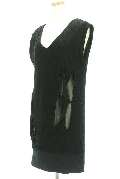 JOHANNA HO(ジョアンナホー)の古着「シアーデザインパイルニットワンピ(ワンピース・チュニック)」大画像3へ