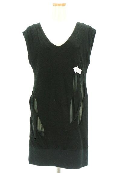 JOHANNA HO(ジョアンナホー)の古着「シアーデザインパイルニットワンピ(ワンピース・チュニック)」大画像4へ