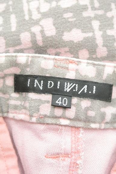 INDIVI(インディヴィ)の古着「総柄ストレートカラーパンツ(パンツ)」大画像6へ