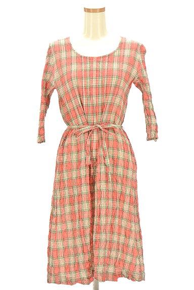 Mademoiselle NON NON(マドモアゼルノンノン)の古着「7分袖ワッシャーロングシャツワンピ(ワンピース・チュニック)」大画像1へ