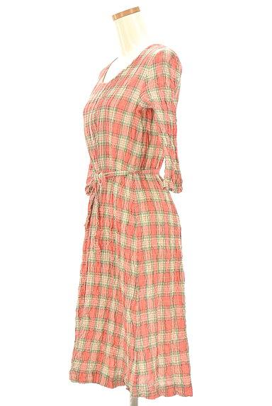 Mademoiselle NON NON(マドモアゼルノンノン)の古着「7分袖ワッシャーロングシャツワンピ(ワンピース・チュニック)」大画像3へ