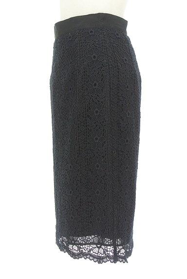 Debut de Fiore by LAISSE PASSE(デビュー・ド・フィオレ)の古着「花刺繍レースタイトスカート(スカート)」大画像3へ