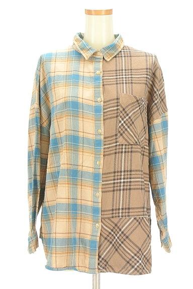 studio CLIP(スタディオクリップ)の古着「切替チェック柄シャツ(カジュアルシャツ)」大画像1へ