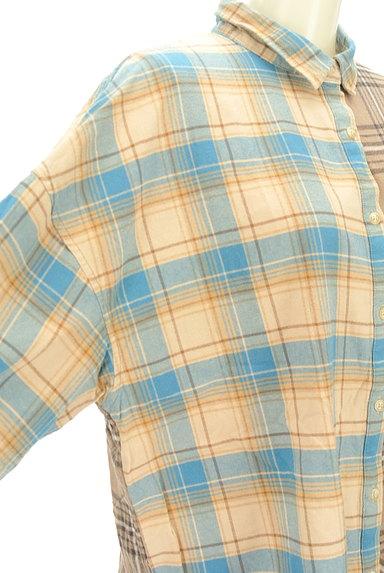 studio CLIP(スタディオクリップ)の古着「切替チェック柄シャツ(カジュアルシャツ)」大画像4へ