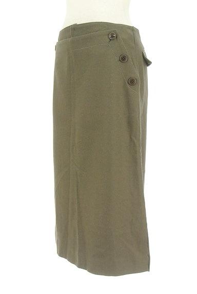 GALERIE VIE(ギャルリーヴィー)の古着「サイドボタンウールタイトスカート(スカート)」大画像3へ