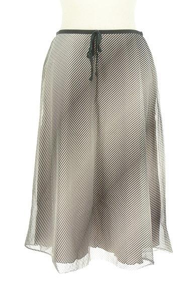 UNITED ARROWS(ユナイテッドアローズ)の古着「斜めボーダー膝下丈シフォンスカート(スカート)」大画像1へ