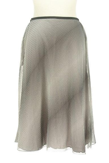 UNITED ARROWS(ユナイテッドアローズ)の古着「斜めボーダー膝下丈シフォンスカート(スカート)」大画像2へ
