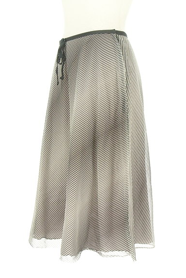 UNITED ARROWS(ユナイテッドアローズ)の古着「斜めボーダー膝下丈シフォンスカート(スカート)」大画像3へ