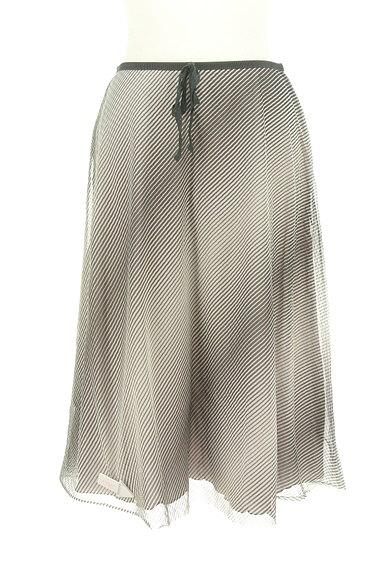 UNITED ARROWS(ユナイテッドアローズ)の古着「斜めボーダー膝下丈シフォンスカート(スカート)」大画像4へ
