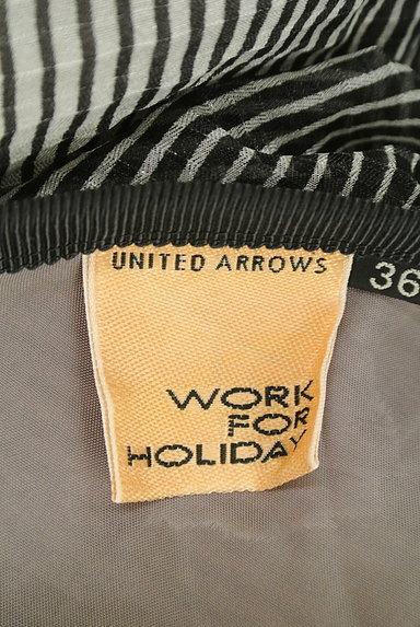 UNITED ARROWS(ユナイテッドアローズ)の古着「斜めボーダー膝下丈シフォンスカート(スカート)」大画像6へ