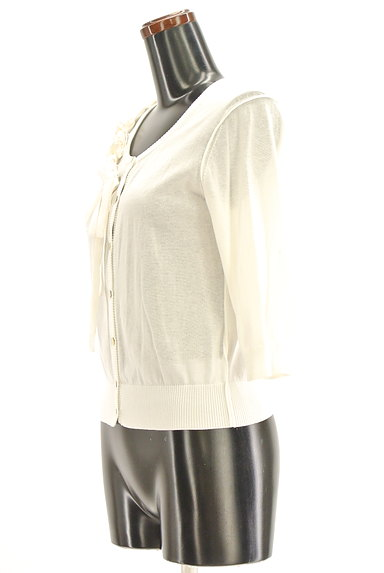 HIROKO BIS(ヒロコビス)の古着「七分袖リボンフリルカーディガン(カーディガン・ボレロ)」大画像3へ