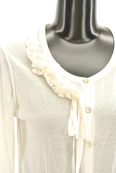 HIROKO BIS(ヒロコビス)の古着「七分袖リボンフリルカーディガン(カーディガン・ボレロ)」大画像4へ