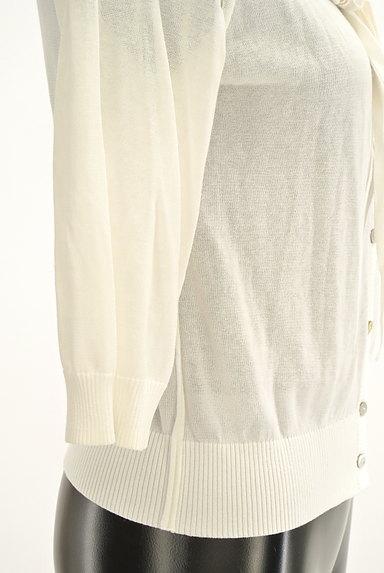 HIROKO BIS(ヒロコビス)の古着「七分袖リボンフリルカーディガン(カーディガン・ボレロ)」大画像5へ