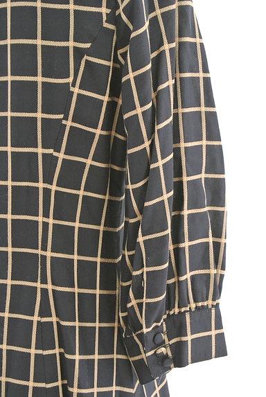 CLATHAS(クレイサス)の古着「ビッグカラーチェック柄ワンピース(ワンピース・チュニック)」大画像5へ