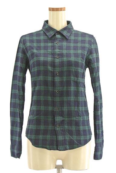 NINE(ナイン)の古着「チェック柄フランネルシャツ(カジュアルシャツ)」大画像1へ
