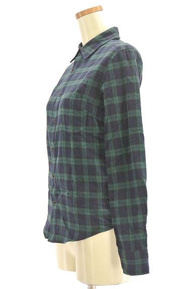 NINE(ナイン)の古着「チェック柄フランネルシャツ(カジュアルシャツ)」大画像3へ