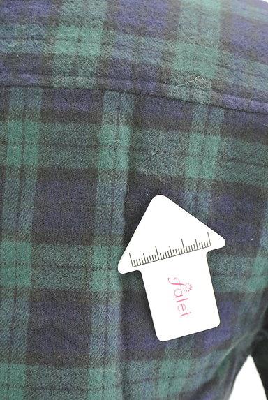 NINE(ナイン)の古着「チェック柄フランネルシャツ(カジュアルシャツ)」大画像5へ