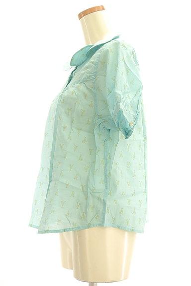 POU DOU DOU(プードゥドゥ)の古着「ジュース柄シアーコットンブラウス(ブラウス)」大画像3へ