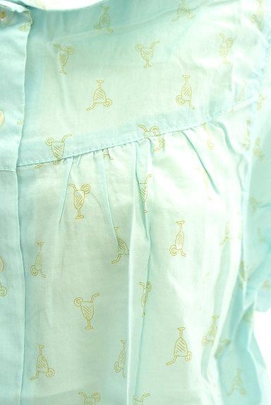 POU DOU DOU(プードゥドゥ)の古着「ジュース柄シアーコットンブラウス(ブラウス)」大画像5へ