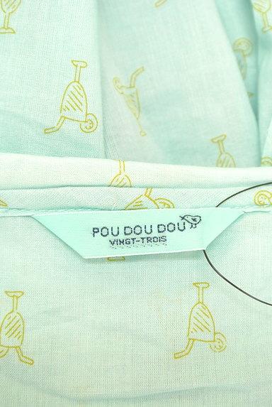POU DOU DOU(プードゥドゥ)の古着「ジュース柄シアーコットンブラウス(ブラウス)」大画像6へ