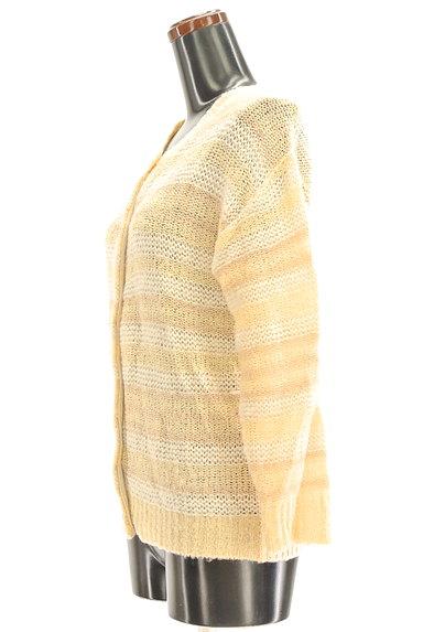 POU DOU DOU(プードゥドゥ)の古着「ボーダーローゲージカーディガン(カーディガン・ボレロ)」大画像3へ