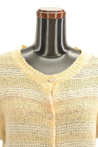 POU DOU DOU(プードゥドゥ)の古着「ボーダーローゲージカーディガン(カーディガン・ボレロ)」大画像4へ