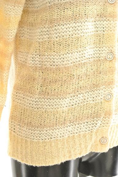 POU DOU DOU(プードゥドゥ)の古着「ボーダーローゲージカーディガン(カーディガン・ボレロ)」大画像5へ