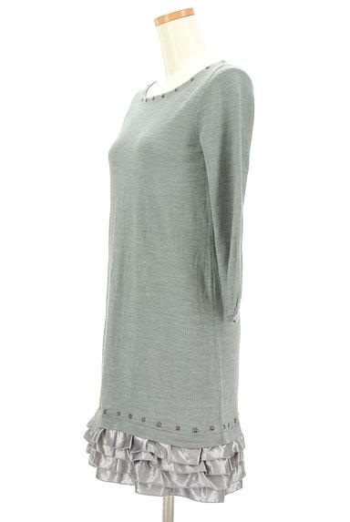 Apuweiser riche(アプワイザーリッシェ)の古着「裾サテンフリルニットワンピース(ワンピース・チュニック)」大画像3へ