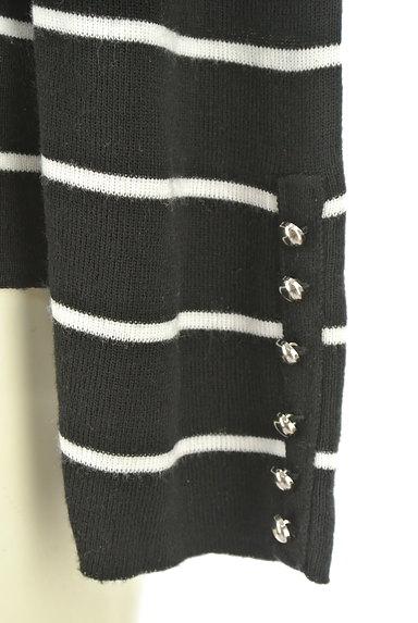 VICKY(ビッキー)の古着「袖ボタンボーダーニット(ニット)」大画像5へ