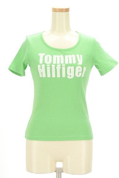 TOMMY HILFIGER(トミーヒルフィガー)の古着「フロッキープリントTシャツ(Tシャツ)」大画像1へ