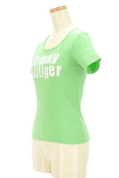 TOMMY HILFIGER(トミーヒルフィガー)の古着「フロッキープリントTシャツ(Tシャツ)」大画像3へ