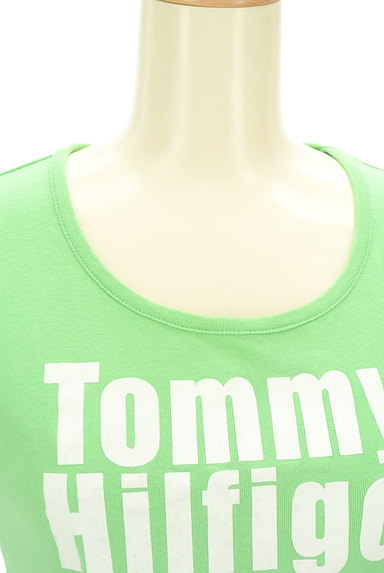 TOMMY HILFIGER(トミーヒルフィガー)の古着「フロッキープリントTシャツ(Tシャツ)」大画像4へ