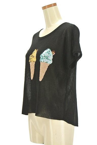 VICKY(ビッキー)の古着「スパンコールアイス柄ニット(ニット)」大画像3へ