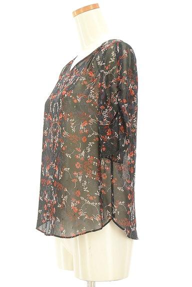 UNTITLED(アンタイトル)の古着「ラメドット刺繍シアーブラウス(カットソー・プルオーバー)」大画像3へ