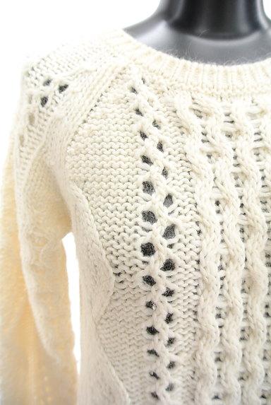 UNTITLED(アンタイトル)の古着「透かし編みケーブルニット(セーター)」大画像4へ