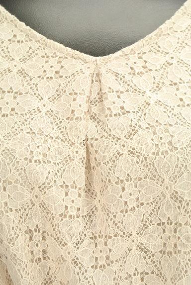 SunaUna(スーナウーナ)の古着「バイカラーリボンレースワンピース(ワンピース・チュニック)」大画像4へ