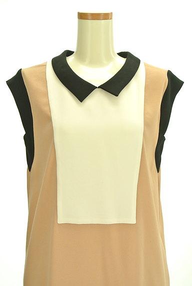 Tiara(ティアラ)の古着「襟付きバイカラーワンピース(ワンピース・チュニック)」大画像4へ