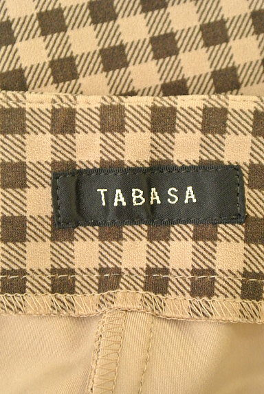 TABASA(タバサ)の古着「チェック柄ストレートパンツ(パンツ)」大画像6へ