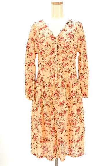 TABASA(タバサ)の古着「Vネック花柄ワンピース(ワンピース・チュニック)」大画像1へ