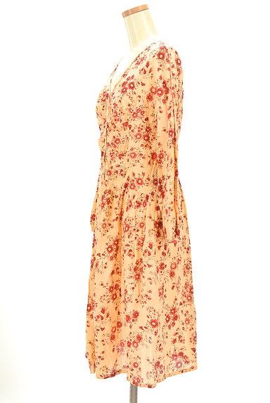 TABASA(タバサ)の古着「Vネック花柄ワンピース(ワンピース・チュニック)」大画像3へ