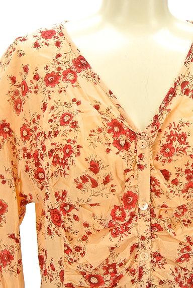 TABASA(タバサ)の古着「Vネック花柄ワンピース(ワンピース・チュニック)」大画像4へ