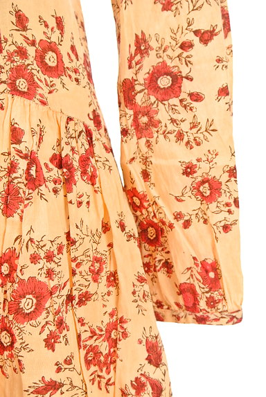 TABASA(タバサ)の古着「Vネック花柄ワンピース(ワンピース・チュニック)」大画像5へ