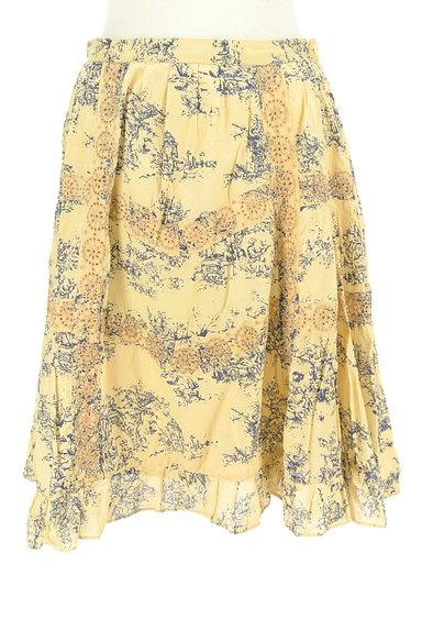 TABASA(タバサ)の古着「刺繍+総柄フレアスカート(スカート)」大画像1へ