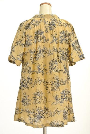 TABASA(タバサ)の古着「スキッパーカラー総柄シャツ(カットソー・プルオーバー)」大画像2へ