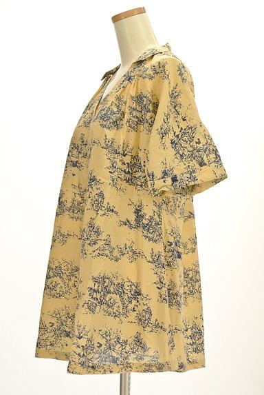 TABASA(タバサ)の古着「スキッパーカラー総柄シャツ(カットソー・プルオーバー)」大画像3へ