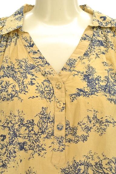 TABASA(タバサ)の古着「スキッパーカラー総柄シャツ(カットソー・プルオーバー)」大画像4へ