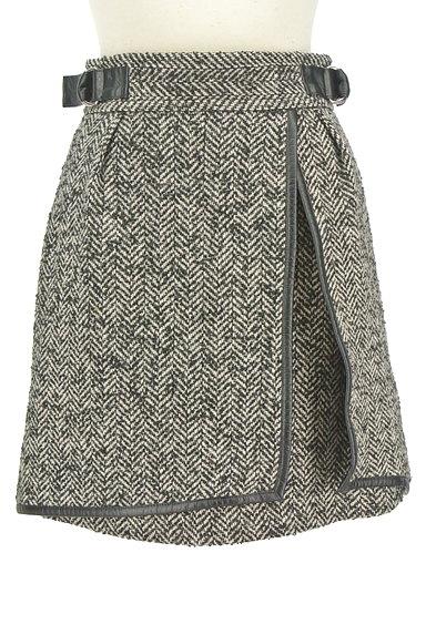 JILLSTUART(ジルスチュアート)の古着「ヘリンボーン柄スリットミニスカート(ミニスカート)」大画像1へ